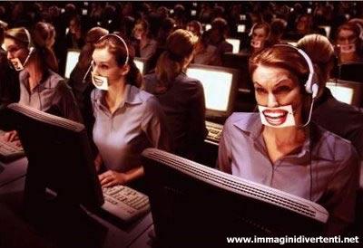 Immagine Divertente Call Center: Immagine Divertente Call Center