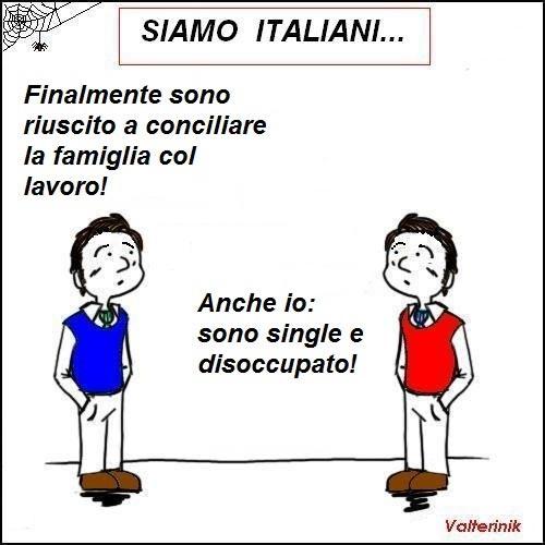 Immagine Divertente Lavoro: Siamo Italiani
