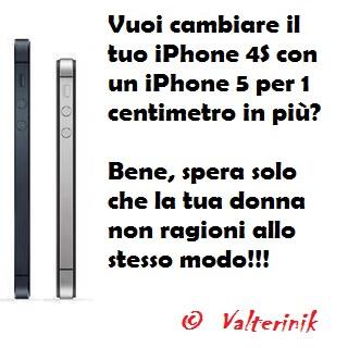 Immagine Divertente Iphone 5: Vuoi cambiare il tuo iPhone 4S con un iPhone 5?